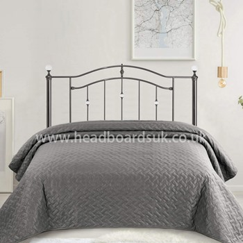 Ashley black nickel headboard by Serene.