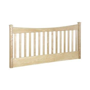 looe slatted 4ft small double wooden headboard. Black Bedroom Furniture Sets. Home Design Ideas