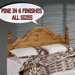 5ft pine headboards for divan beds